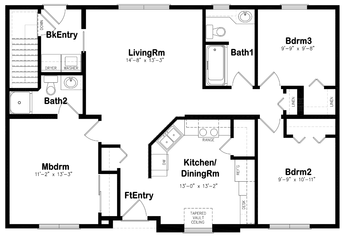 Ranch and Split Level - Maine Construction Group on ranch house floor plans with garage, ranch house floor plans with 4 bedrooms, ranch house floor plans with mud room,